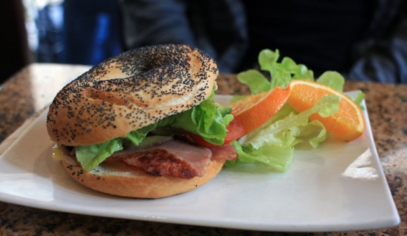 Bagel bacon